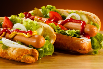 hot dog hamburg